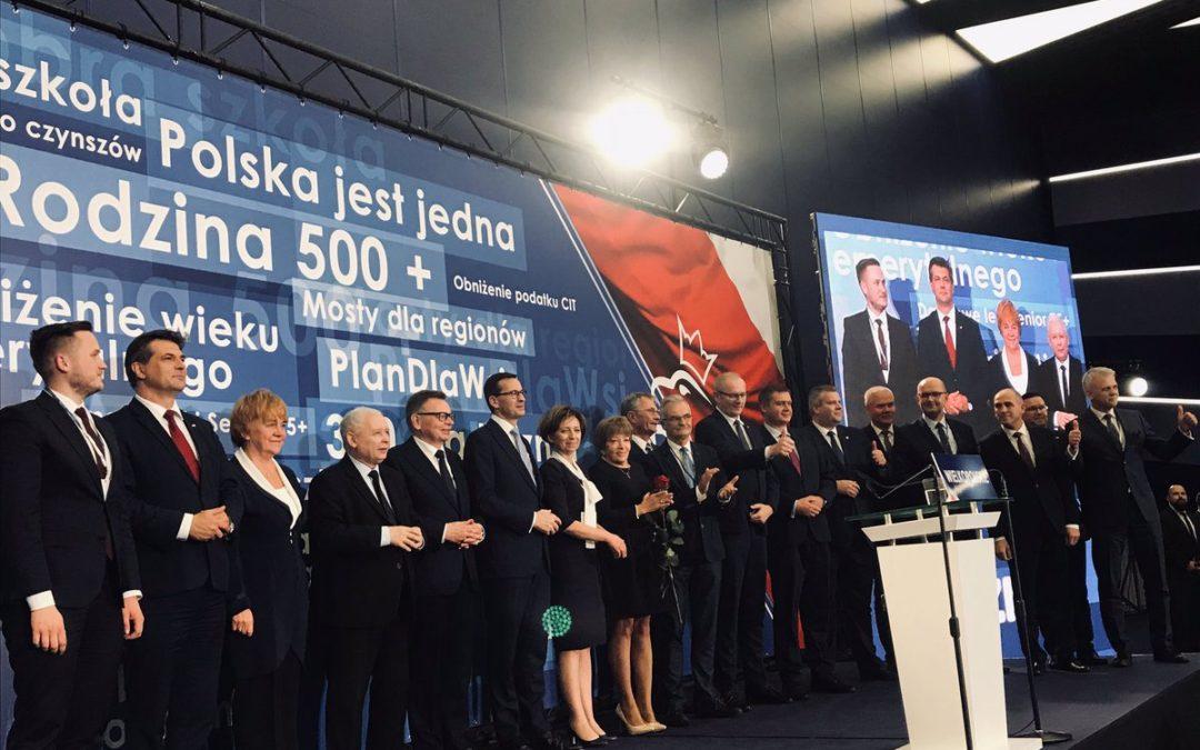 PiS ogłosił listy z kandydatami do Sejmu