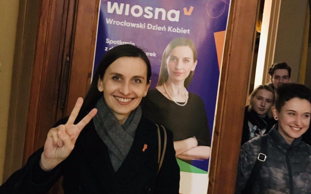Sylwia Spurek jedynką Wiosny w Wielkopolsce