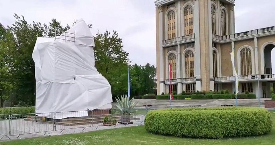 Miał molestować, zakon w Licheniu zakrył jego pomnik