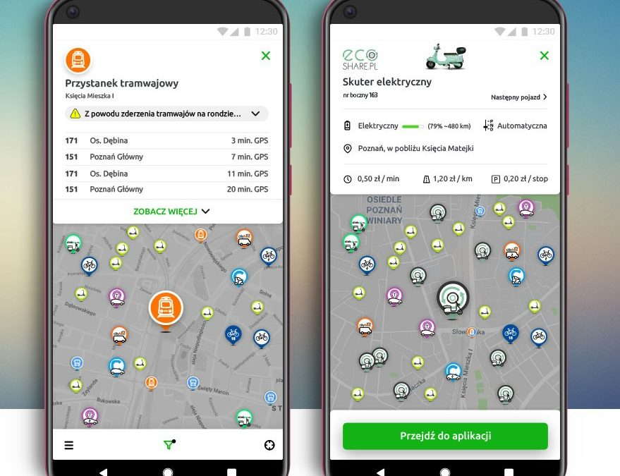 Aplikacja take&drive ułatwi mieszkańcom poruszanie się po mieście