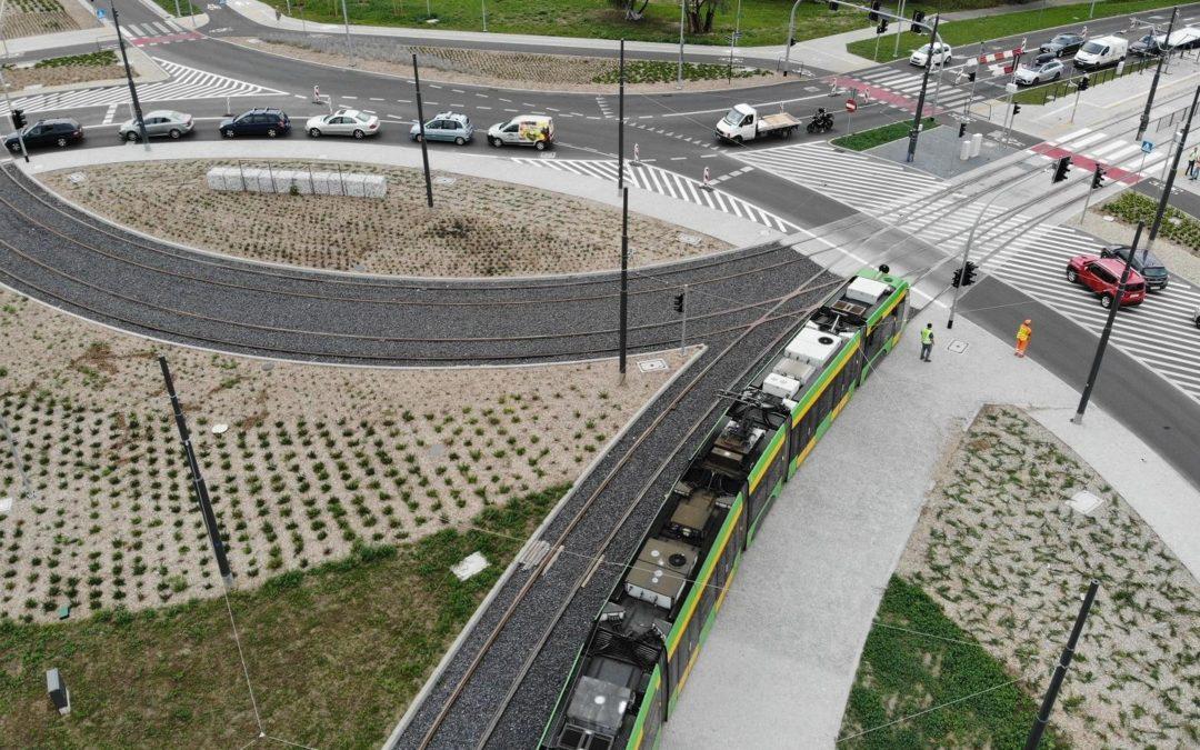Pierwsze tramwaje przejechały po wyremontowanej trasie Górnego Tarasu Rataj
