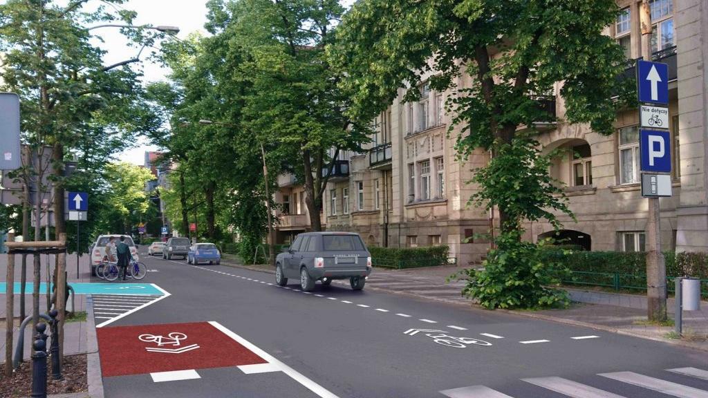 Ul. Mickiewicza w Poznaniu, jednokierunkowa