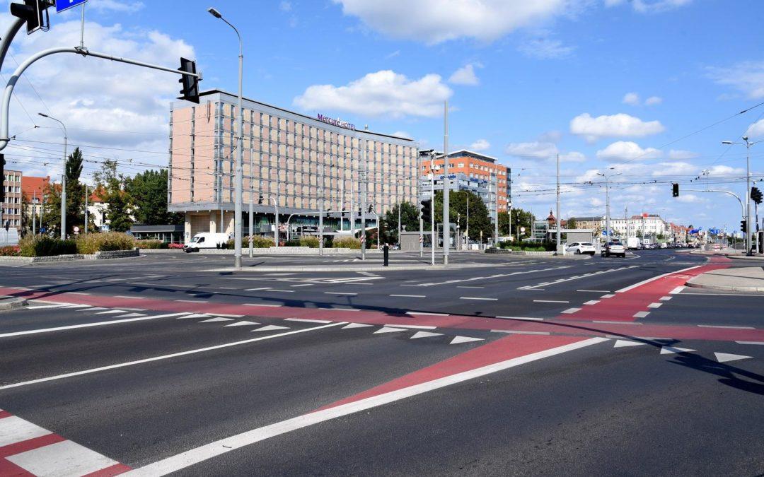 Rondo Kaponiera, ul. św. Marcin i ul. Roosevelta — remont