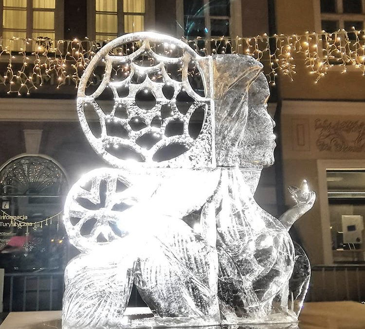 Rzeźby lodowe Poznań 2019