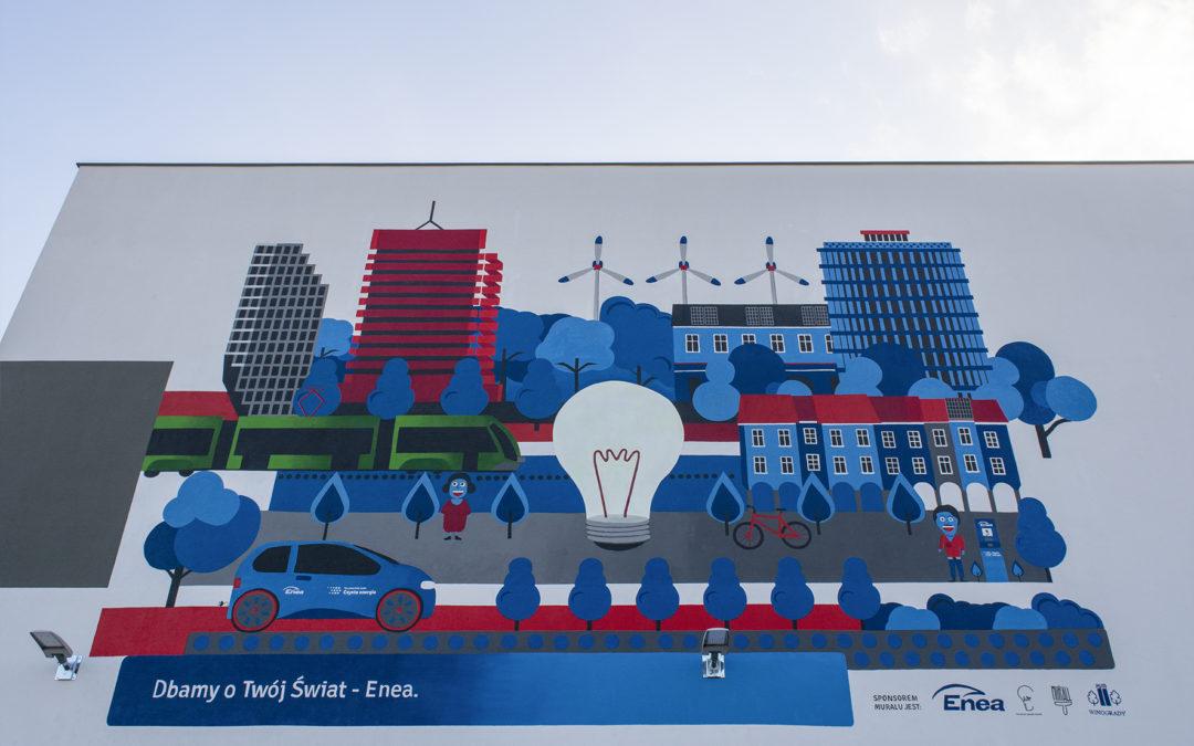 Ten mural czyści powietrze