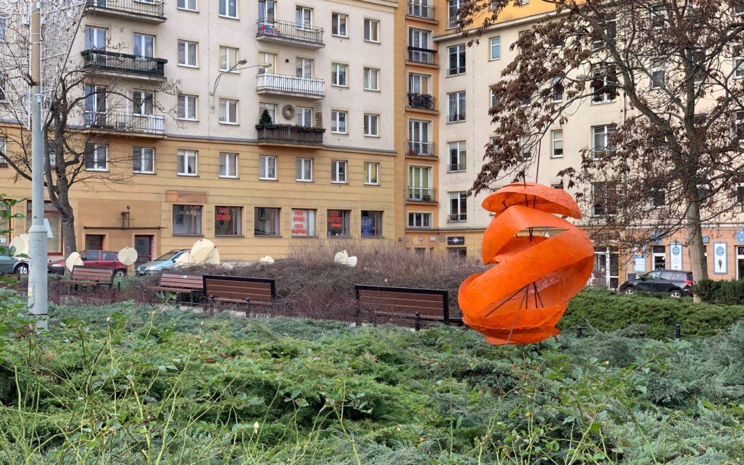 Nowa rzeźba na placu C. Ratajskiego