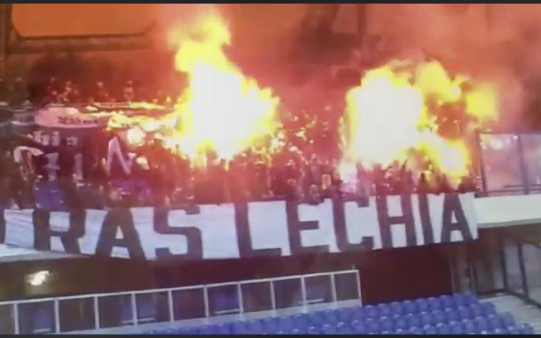 Mogło dojść do zamieszek – policja ujawnia nagranie ze stadionu