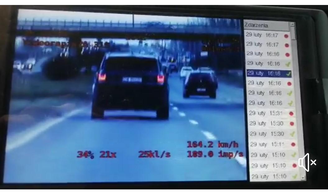 170 km/h godzinę i prawo jazdy w depozycie  (video)