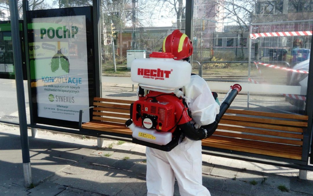 W Poznaniu znów dezynfekują przystanki