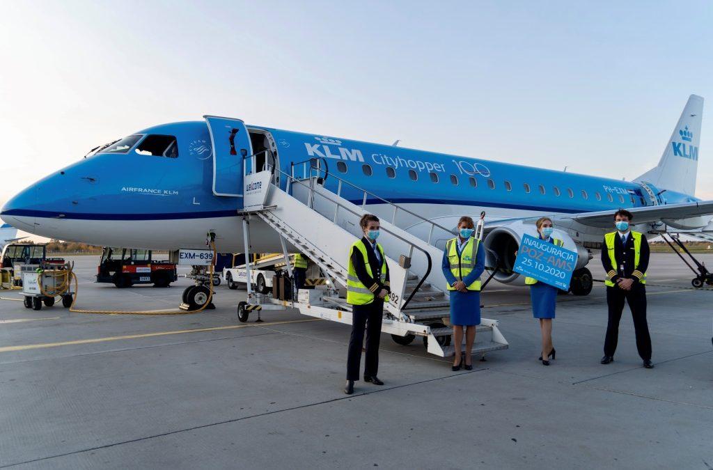 Samolot KLM wylądował w Poznaniu. Ruszyło połączenie do Amsterdamu